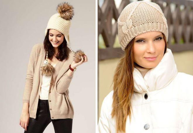 Самые красивые женские вязаные и меховые зимние шапки
