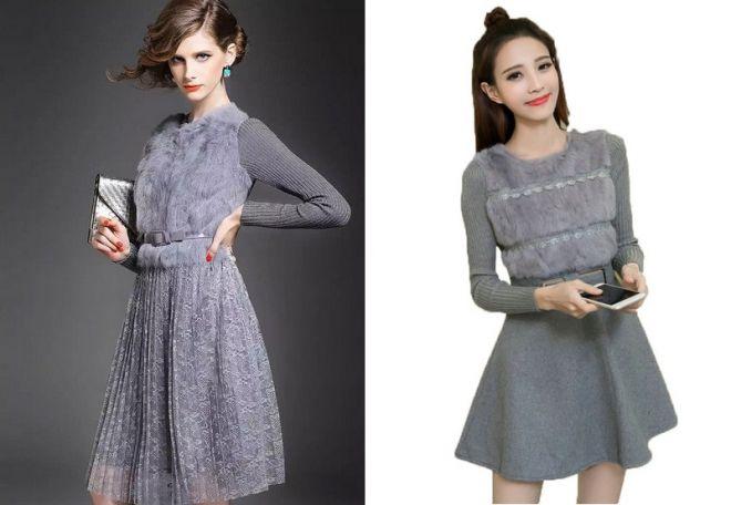 платье с мехом 11