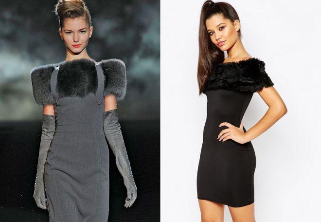 платье с мехом 12