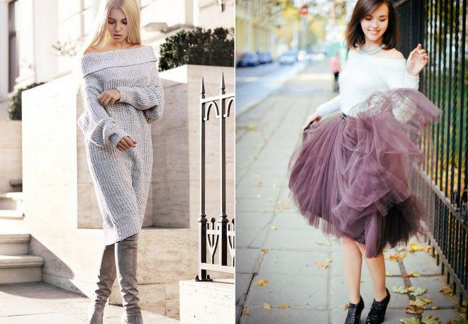 Как носить платье свитер