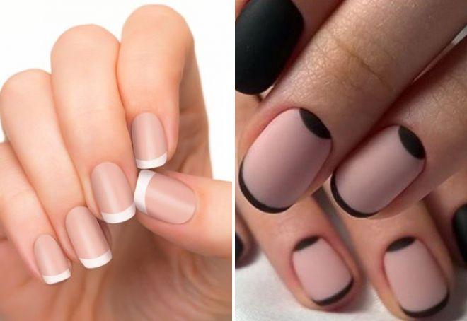 Френч цветной на ногтях