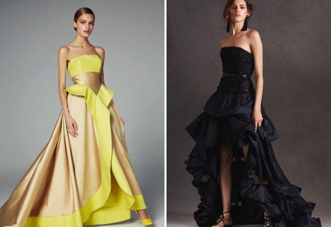 модные вечерние платья с корсетом