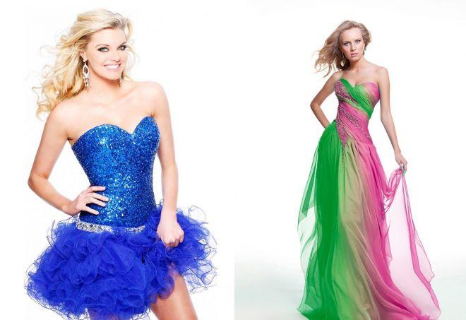 яркие платья с корсетом