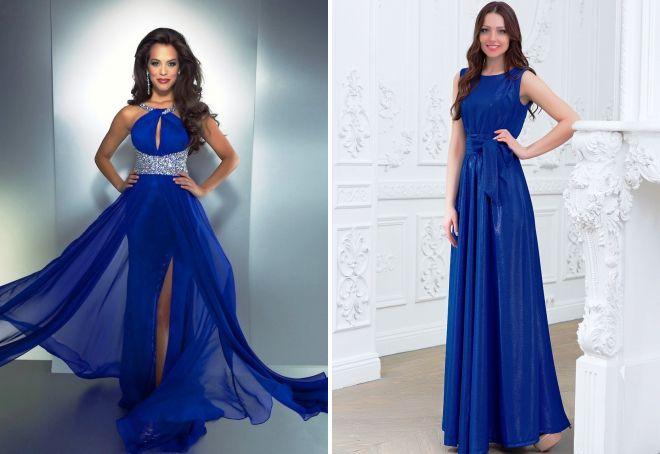 Вечерние платья синего цвета короткие