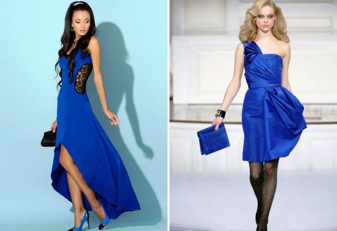 Что подобрать к синему платью