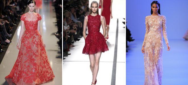 Модели красивых платьев с кружевом