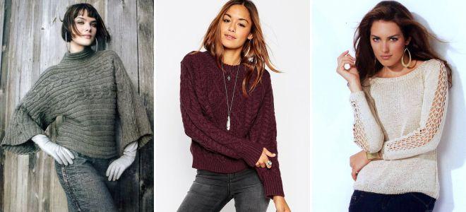 Модные и стильные модели вязаных свитеров – оверсайз, со ...
