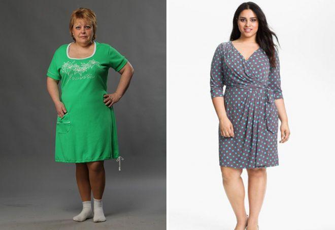 Домашние платья на полных женщин