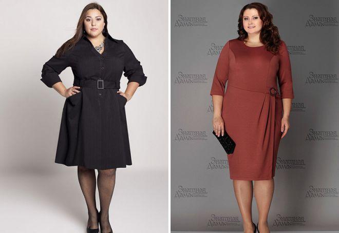 Модели деловые платья для полных