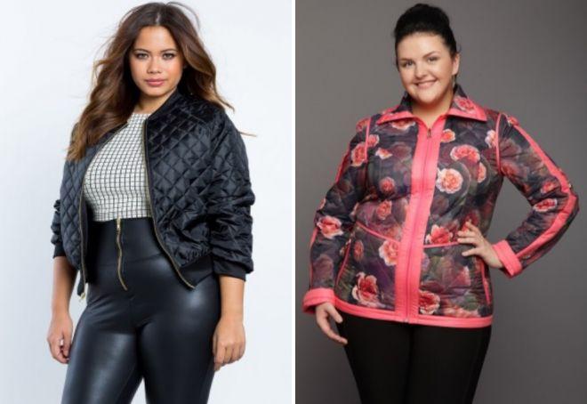 весенние женские куртки для полных женщин 2017