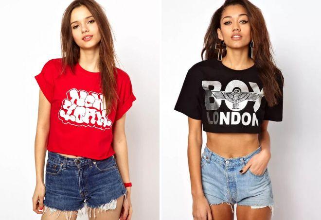 молодежные женские футболки