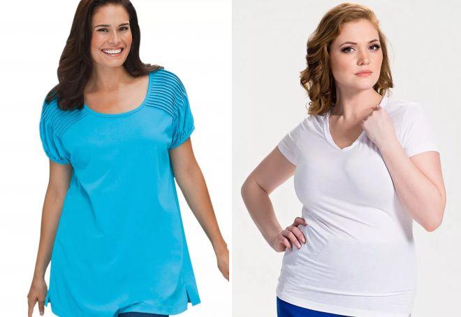 женские футболки для полных