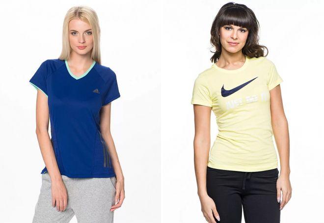 трикотажные женские футболки
