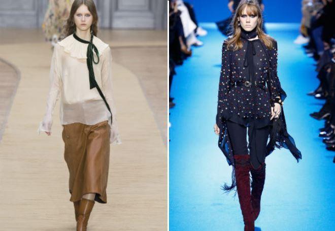модные удлиненные блузки 2017