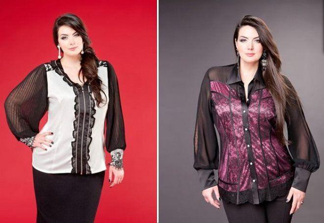 блузки 2017 года модные тенденции для полных