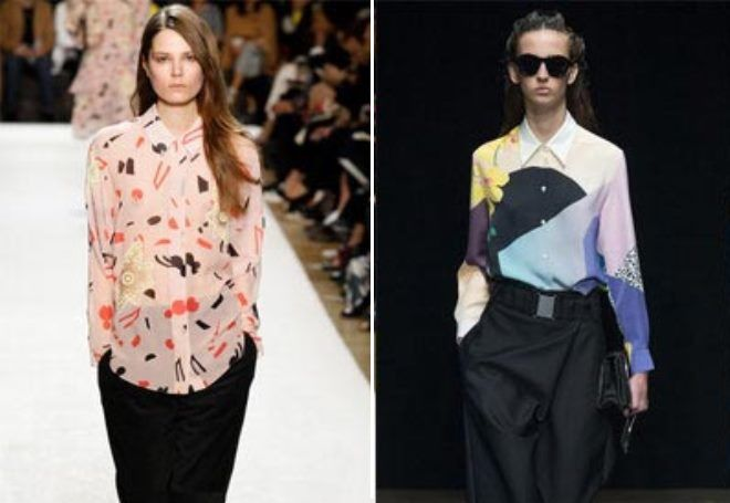 Модные блузки шифоновые 2017