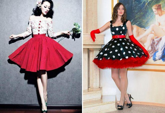 Платье в стиле ретро пышные
