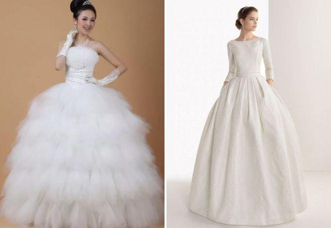 Пышнее длинные белые платья