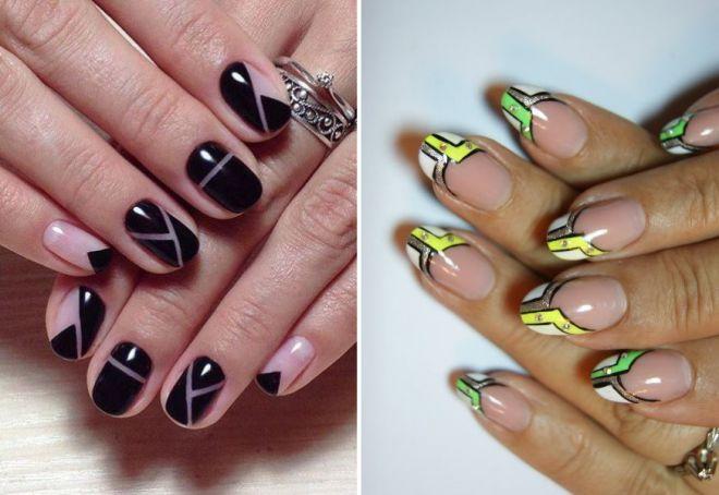 В дизайне геометрия ногтей