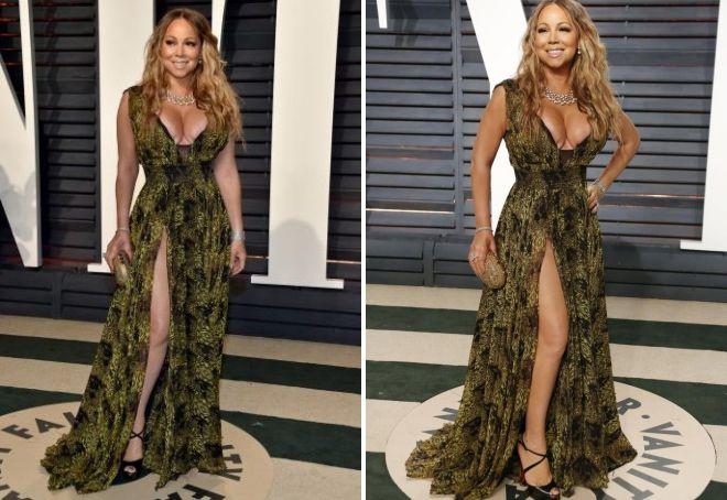 Неудачное декольте на платье Мэрайи Кэри на Оскаре 2017