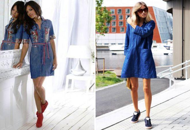 джинсовое платье 2017