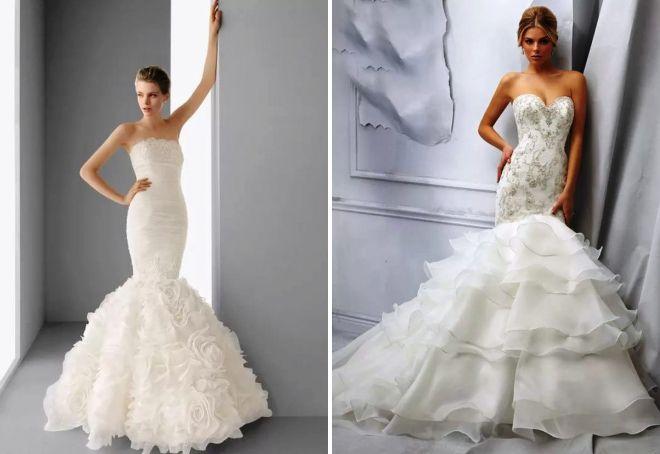 Платья свадебные с удлиненным корсетом