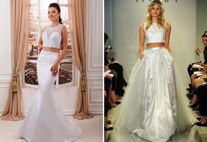 Мятое свадебное платье