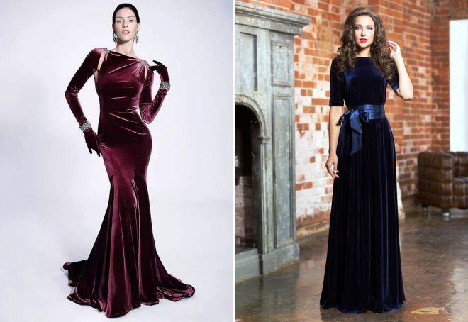 бархатные платья 2017