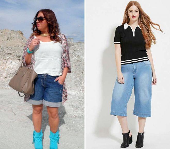 фото22 женские летние шорты для полных