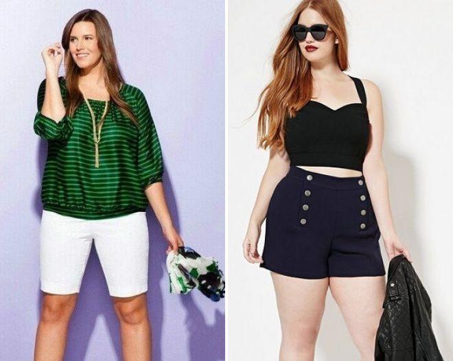 фото23 женские летние шорты для полных