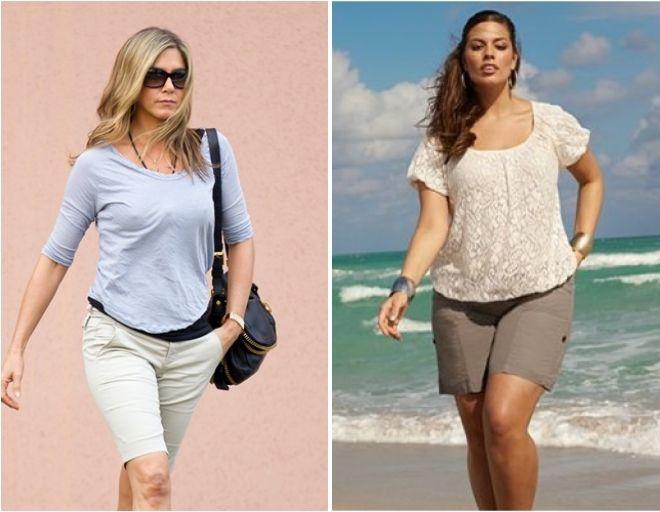 фото24 женские летние шорты для полных