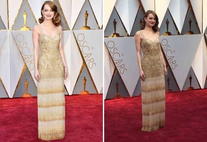 Эмма Стоун в шикраном платье на Оскаре 2017