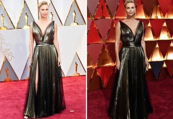 Платье Шарлиз Терон в греческом стиле на Оскаре 2017