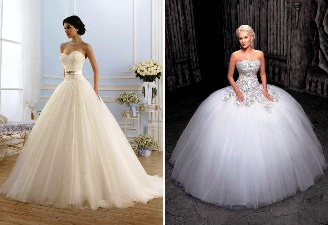 Платье свадебное с корсетом и пышной юбкой