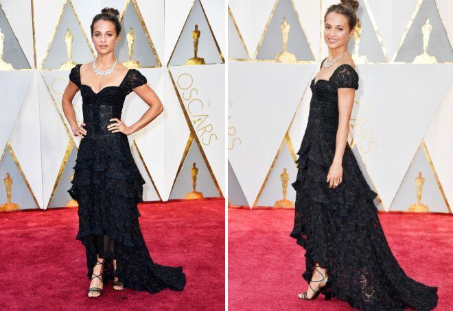 Кружевное платье Алисии Викандер на Оскаре 2017