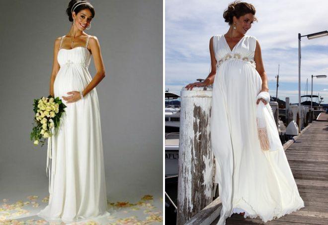Греческие платья свадебные для беременных