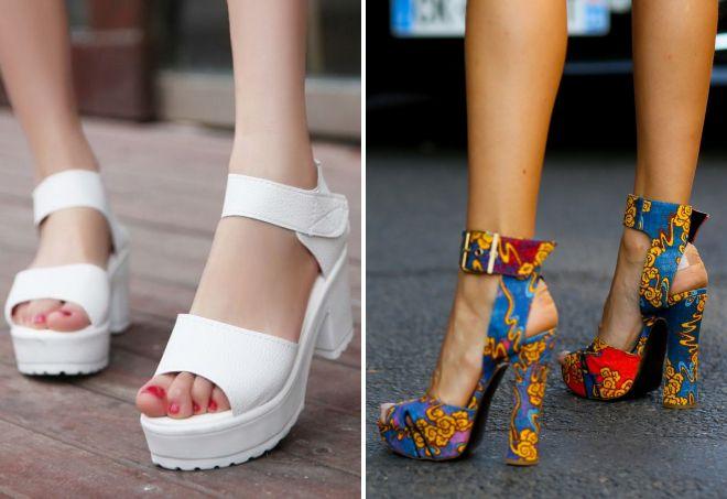 обувь лето 2017