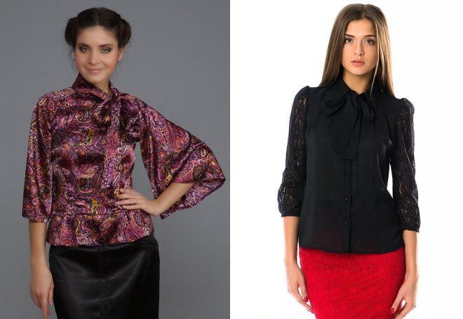 Черные блузки женские