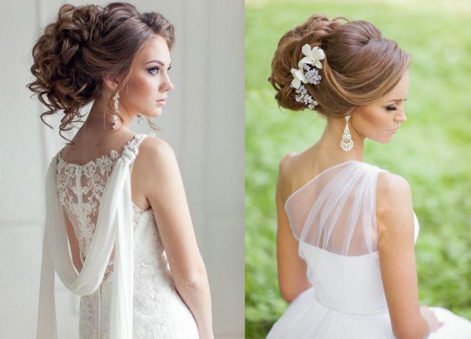 Модные прически для невест 2017