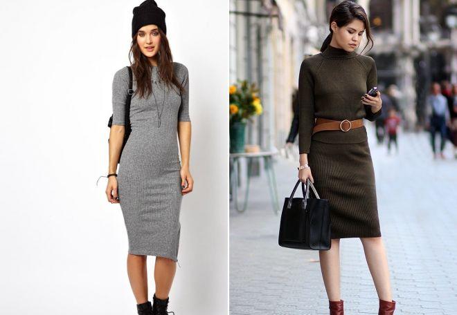 С чем носить черное платье лапшу