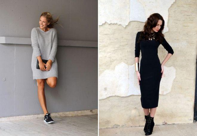 С чем носить платье миди обувь