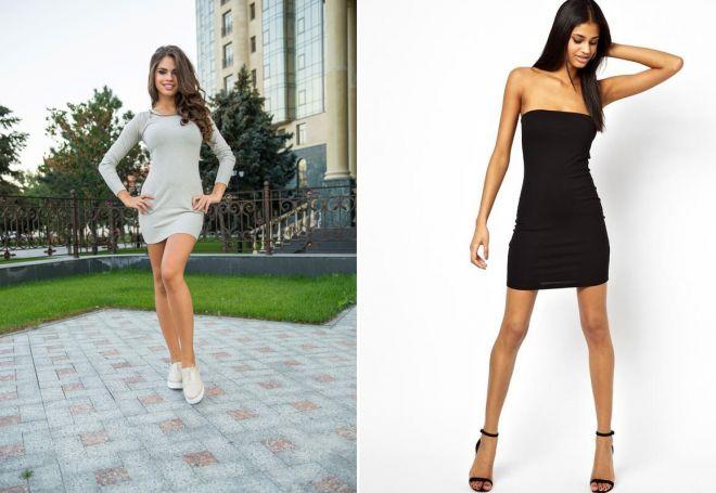 Платье лапша ниже колена с чем носить