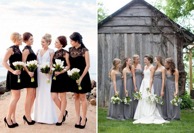 модели платьев для подружек невесты