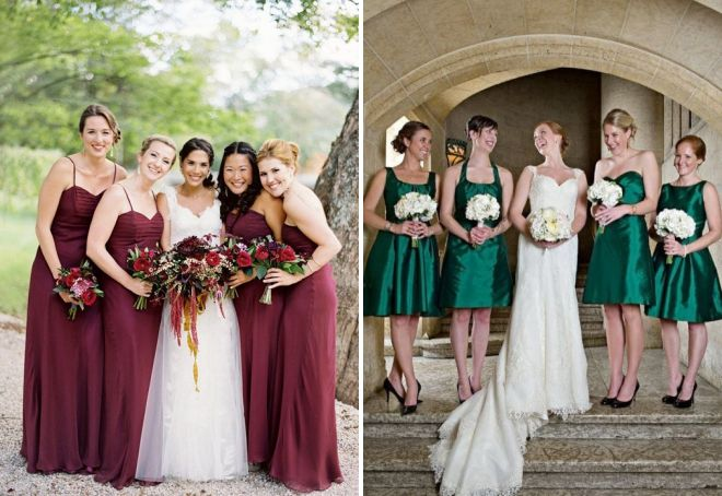 идеи платьев для подружек невесты