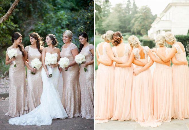 платья подружек невесты в пол