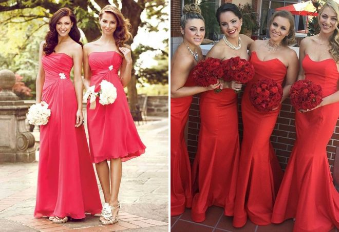 платья подружек невесты фасоны