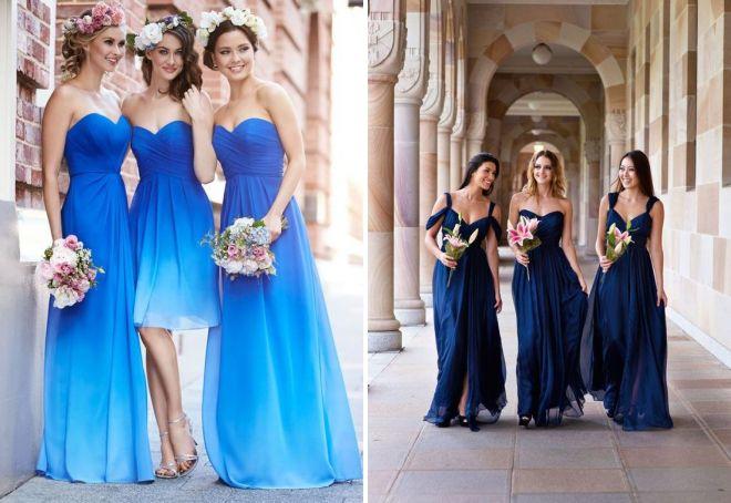 синее платье подружки невесты