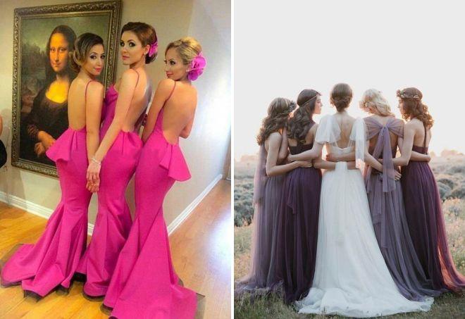 подружки невесты в одинаковых <u>невесты</u> платьях
