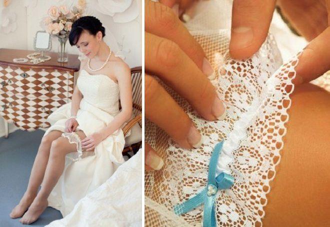 Что одевает на ногу невеста одевает подвязку