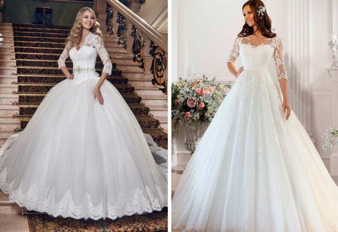 Фото свадебные платья самые пышные